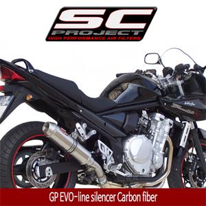 SC프로젝트 GSF BANDIT 650 '07-12 GP EVO-line silencer Carbon fiber