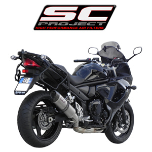 SC프로젝트 GSX1250F TRAVELLER OVAL SILENCER Titanium with carbon cap