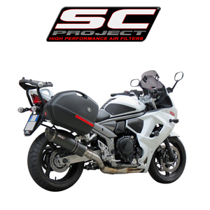 SC프로젝트 GSX1250F TRAVELLER OVAL SILENCER COMPATIBLE WITH ORIGINAL BAGS Carbon fiber with carbon cap