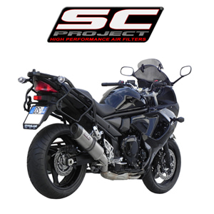 SC프로젝트 GSX650F Oval silencer Titanium with carbon cap