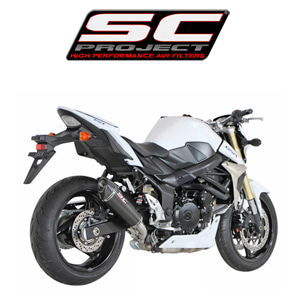 SC프로젝트 GSR750 CARBON CONIC SILENCER Matt Carbon fiber with carbon cap