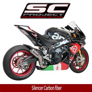 SC프로젝트 APRILIA RSV4 RF/RR '15-16 CR-T Silencer Carbon fiber