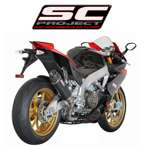 SC프로젝트 APRILIA RSV4 FACTORY/R/APRC '09-14 Matt Carbon Oval Silencer Matt carbon fiber with carbon cap