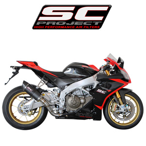 SC프로젝트 APRILIA RSV4 FACTORY/R/APRC '09-14 Oval Racing Silencer Matt carbon fiber with carbon cap