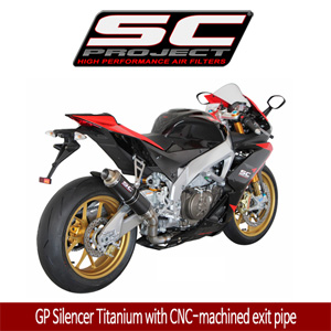 SC프로젝트 APRILIA RSV4 FACTORY/R/APRC '09-14 GP Silencer Titanium with CNC-machined exit pipe