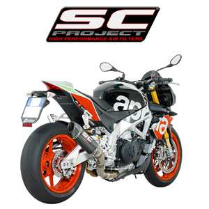 SC프로젝트 APRILIA TUONO V4 1100 RR/FACTORY '17 Oval Racing Silencer Matt carbon fiber with carbon cap