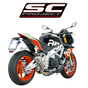 SC프로젝트 APRILIA TUONO V4 1100 RR/FACTORY '17 CR-T Silencer Full titanium with titanium mesh on the exit of the silencer