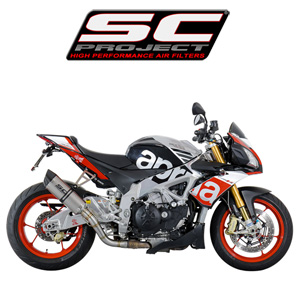 SC프로젝트 APRILIA TUONO V4 FACTORY/RR '15-16 Oval Silencer Titanium with carbon cap