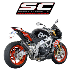 SC프로젝트 APRILIA TUONO V4 FACTORY/RR '15-16 Oval Racing Silencer Matt carbon fiber with carbon cap