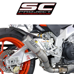 SC프로젝트 APRILIA TUONO V4 FACTORY/RR '15-16 CR-T Silencer Full titanium with titanium mesh on the exit of the silencer