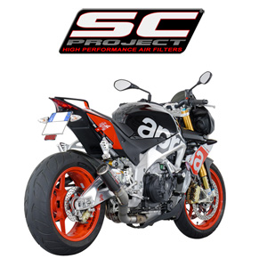 SC프로젝트 APRILIA TUONO V4 FACTORY/RR '15-16 CR-T Silencer Carbon fiber with titanium mesh on the exit of the silencer