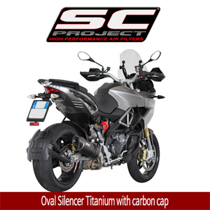SC프로젝트 APRILIA CAPONORD 1200 Oval Silencer Titanium with carbon cap