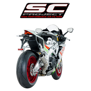 SC프로젝트 APRILIA RSV4 RF/RR '17 CR-T Silencer Full titanium with titanium mesh on the exit of the silencer