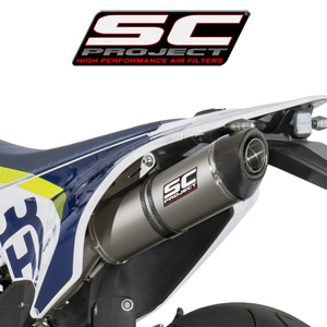 SC프로젝트 HUSQVARNA 701 Oval Silencer Titanium with carbon cap