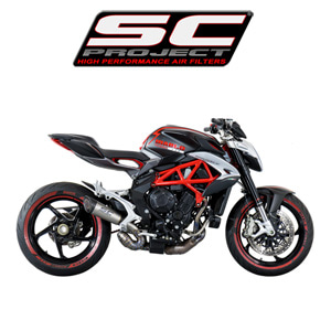 SC프로젝트 MV AGUSTA BRUTALE '16-17 675/800/RR S1 SILENCER Titanium with carbon cap