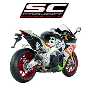 SC프로젝트 APRILIA RSV4 RF/RR '17 CR-T Silencer Carbon fiber with titanium mesh on the exit of the silencer