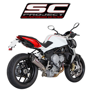 SC프로젝트 MV AGUSTA BRUTALE 675/800/DRAGSTER CONIC SILENCER Titanium with carbon cap