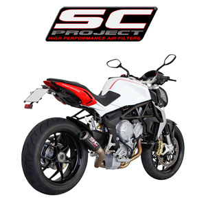 SC프로젝트 MV AGUSTA BRUTALE 675/800/DRAGSTER CR-T  SILENCER Carbon fiber with full titanium exit pipe