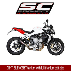 SC프로젝트 MV AGUSTA BRUTALE 675/800/DRAGSTER CR-T  SILENCER Titanium with full titanium exit pipe