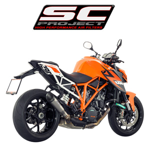 SC프로젝트 KTM 1290 SUPER DUKE R S1 SILENCER  Titanium with carbon cap