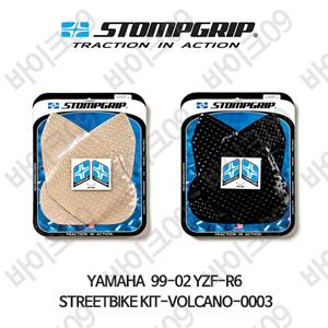 야마하 99-02 YZF-R6 STREETBIKE KIT-VOLCANO-0003 스텀프 테크스팩 오토바이 니그립 패드