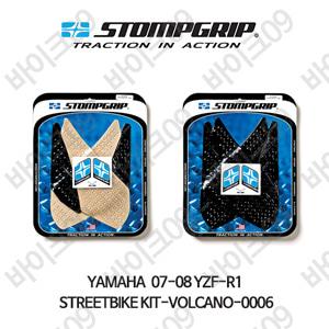 야마하 07-08 YZF-R1 STREETBIKE KIT-VOLCANO-0006 스텀프 테크스팩 오토바이 니그립 패드