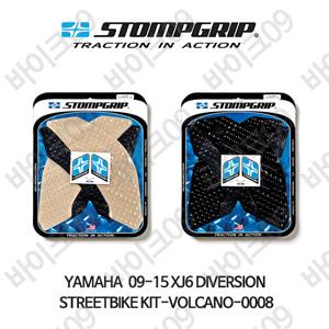 야마하 09-15 XJ6 다이버전 STREETBIKE KIT-VOLCANO-0008 스텀프 테크스팩 오토바이 니그립 패드