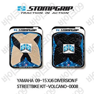 야마하 09-15 XJ6 다이버전 F STREETBIKE KIT-VOLCANO-0008 스텀프 테크스팩 오토바이 니그립 패드