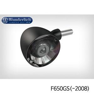 분덜리히 F650GS(-2008) Kellerman Bullet 1000 (piece) - front - black