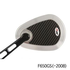 분덜리히 F650GS(-2008) MFW aspherical aluminium mirror body - carbon-silver