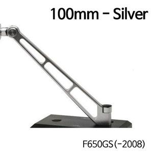 분덜리히 F650GS(-2008) MFW Naked Bike mirror stem - 100mm - silver