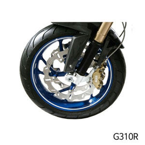 분덜리히 G310R Wheel rim stickers - white