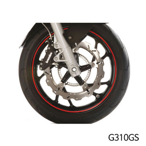 분덜리히 G310GS Wheel rim stickers - red