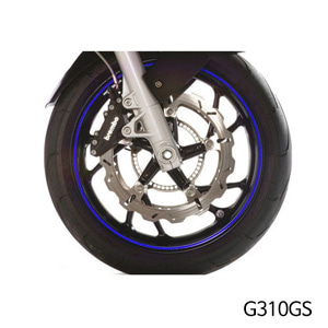 분덜리히 G310GS Wheel rim stickers - blue