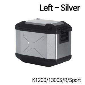 분덜리히 K1200/1300S/R/Sport Hepco & Becker Xplorer aluminium single case 40 litres - left - silver