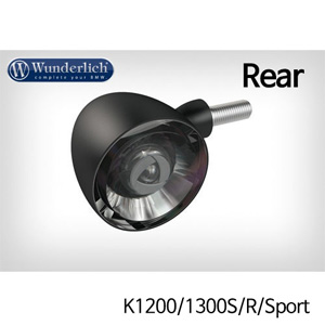 분덜리히 K1200/1300S/R/Sport Kellerman Bullet 1000 (piece) - rear - black