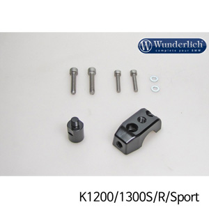 분덜리히 K1200/1300S/R/Sport Mirror clamp for additional mirror (Set) - black