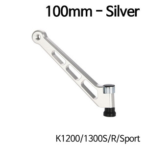 분덜리히 K1200/1300S/R/Sport MFW mirror stem - 100mm - silver
