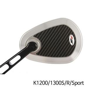 분덜리히 K1200/1300S/R/Sport MFW aspherical aluminium mirror body - carbon-silver