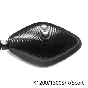 분덜리히 K1200/1300S/R/Sport MFW Naked Bike aluminium mirror housing - black