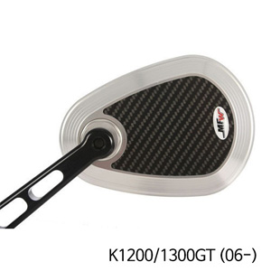 분덜리히 K1200/1300GT (06-) MFW aspherical aluminium mirror body - carbon-silver