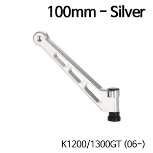 분덜리히 K1200/1300GT (06-) MFW mirror stem - 100mm - silver