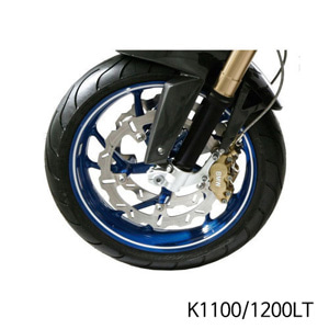 분덜리히 K1100/1200LT Wheel rim stickers - white