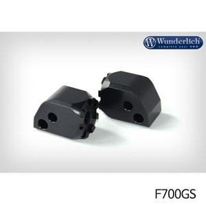 분덜리히 F700GS Vario joint rider (pair) 블랙색상