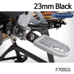 분덜리히 F700GS Vario adapter EVO1 (pair) - 23mm 블랙색상