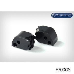 분덜리히 F700GS Vario joint passenger (pair) 블랙색상