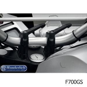 분덜리히 F700GS Quick release clamp bolts without handlebar-riser - onli without handlebar riser 블랙색상