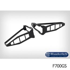 분덜리히 F700GS 깜빡이 보호 롱타입 프론트용 셋트 블랙색상