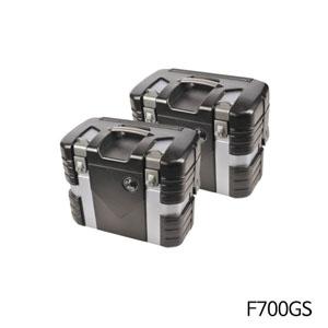 분덜리히 F700GS 사이드 케이스 GOBI Case Set 블랙에디션 블랙/실버색상