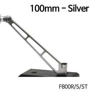 분덜리히 F800R MFW Naked Bike mirror stem - 100mm 실버색상